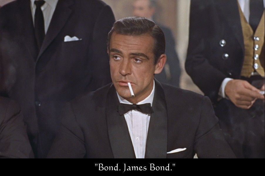 """Bond. James Bond."" (Dr. No). ""Бонд. Джеймс Бонд ""."
